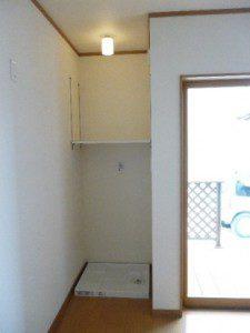 風通しのいい家、光がたくさん入る家 洗濯置き場