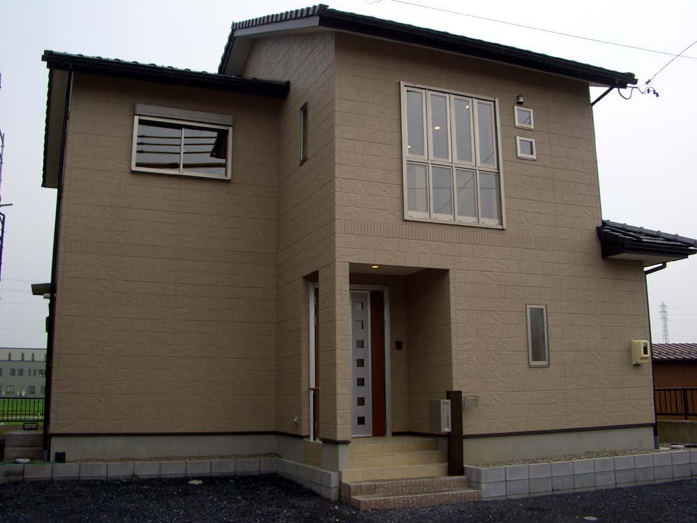 ロフトのある洋風の家