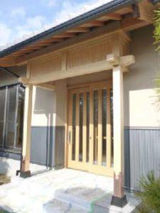 平屋の本格和風住宅 さらし玄関
